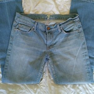 7 For All Mankind Light Wash Jeans Size 30